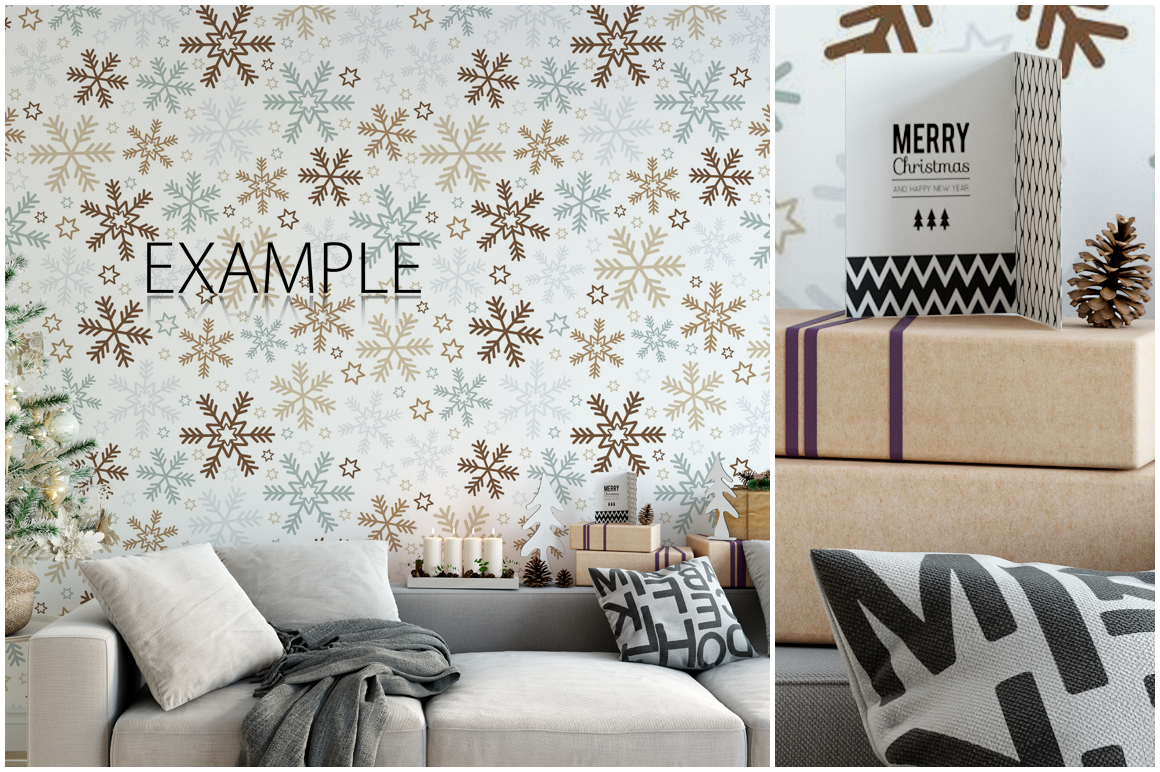 Christmas Wall Mockups example image 7