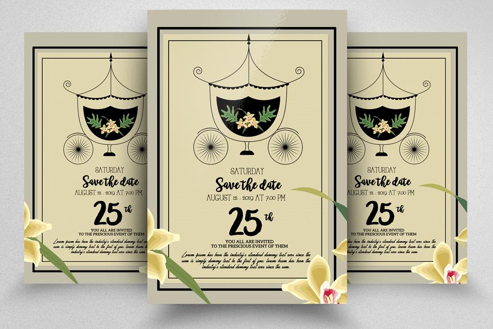 10 Wedding Invitation Flyer Bundle example image 11