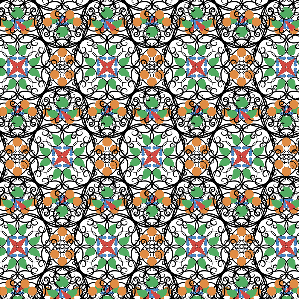 Colored oriental ornaments example image 5