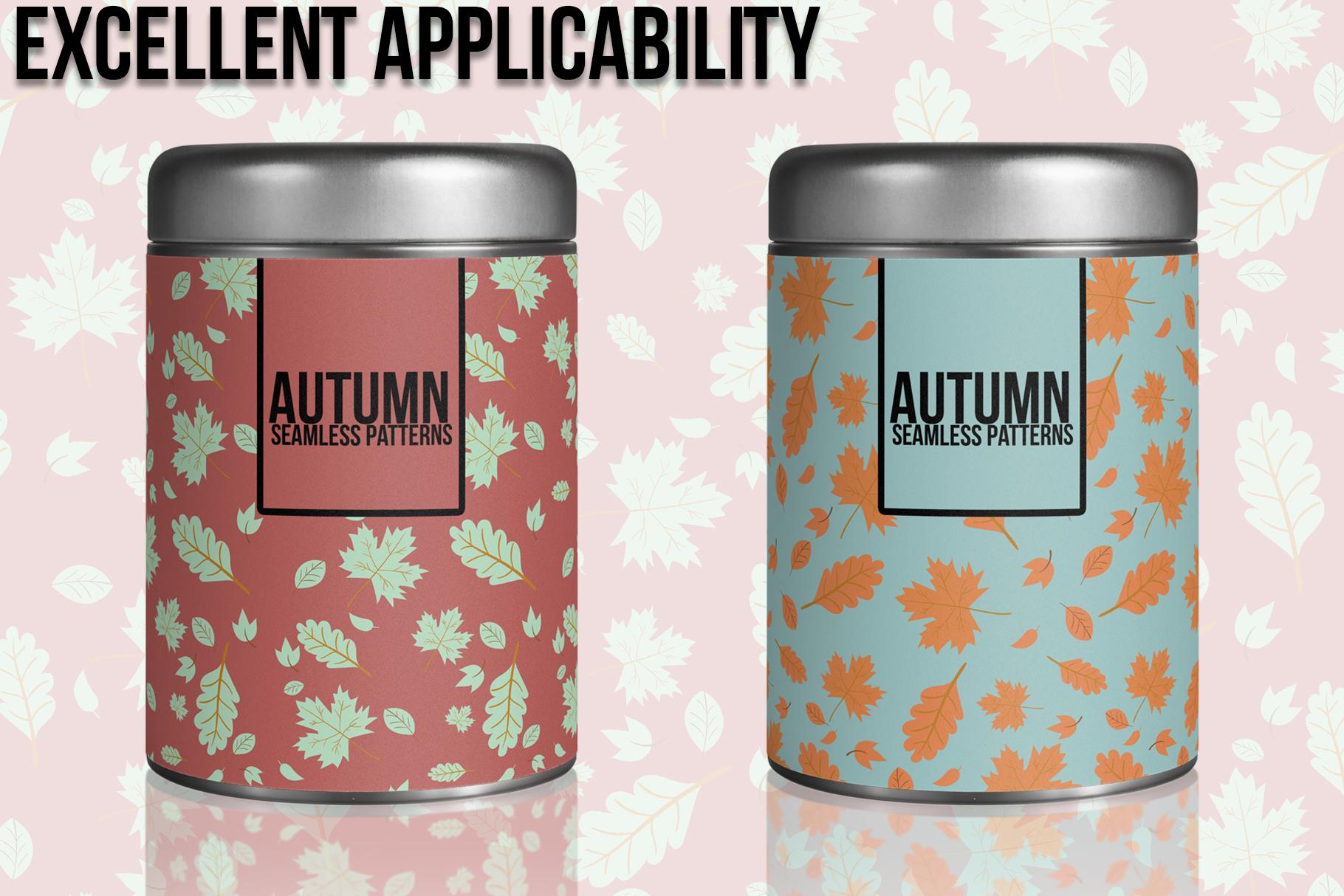 Autumn Seamless Patterns example image 3