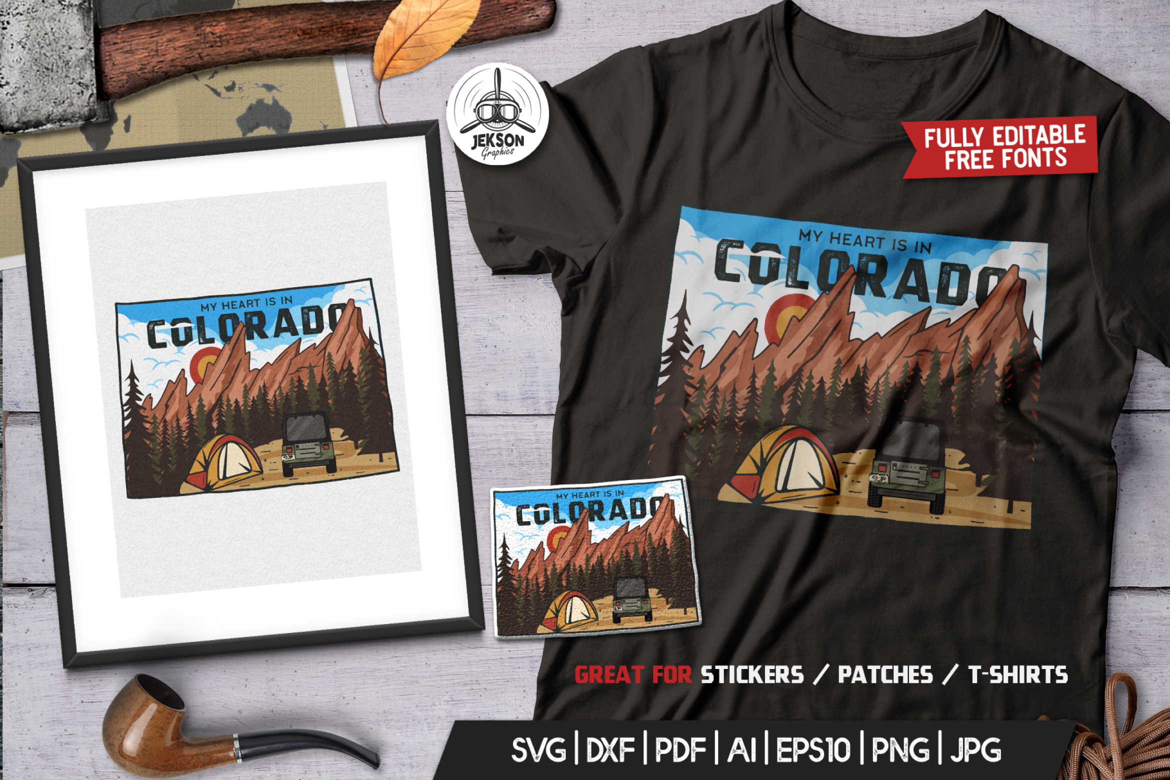 Colorado State Badge / Vintage US T-Shirt American SVG Cut example image 1