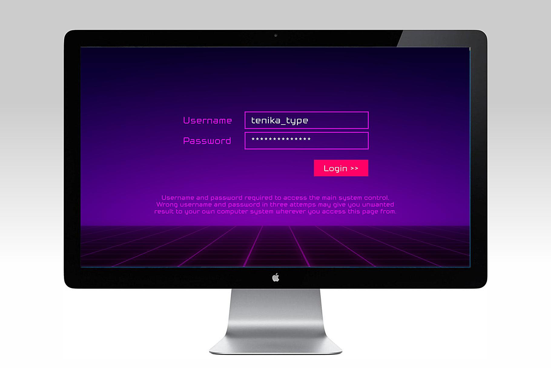 Tenika | Minimal & Squarish Techno Type example image 8