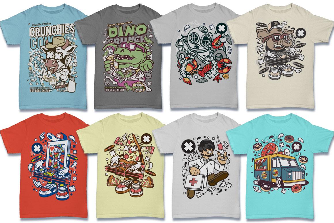 Cartoon Vector #6 Tshirt Design Bundle example image 9