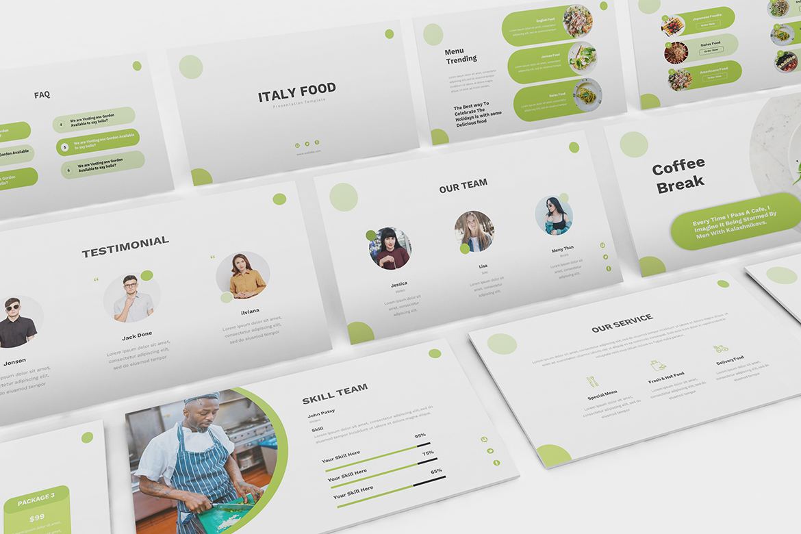 Food Powerpoint Template example image 2
