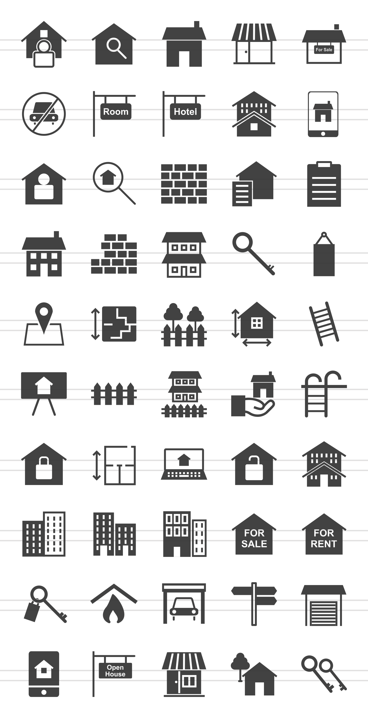 50 Housing Glyph Icons example image 2