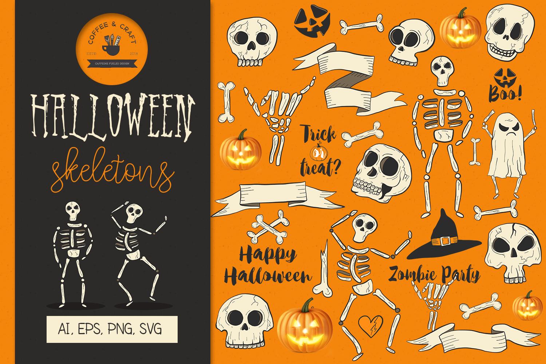 Halloween Skeletons example image 1