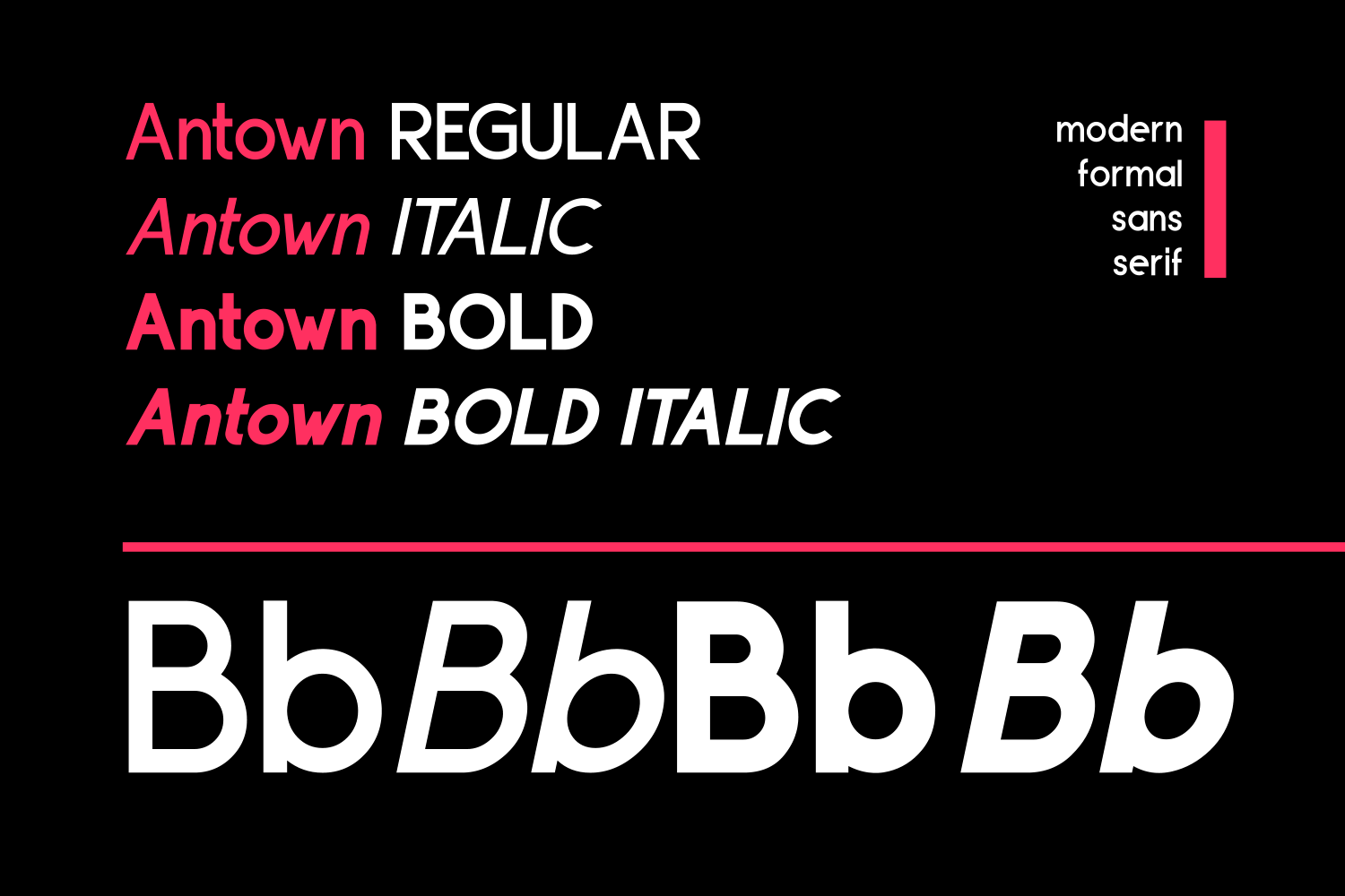 ANTOWN | modern & formal sans family example image 3