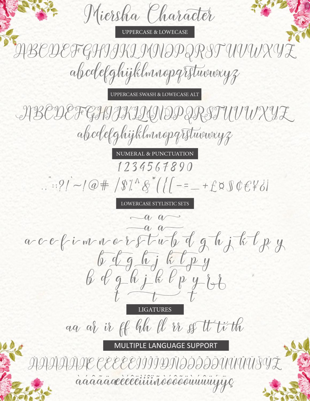 Miersha script example image 6