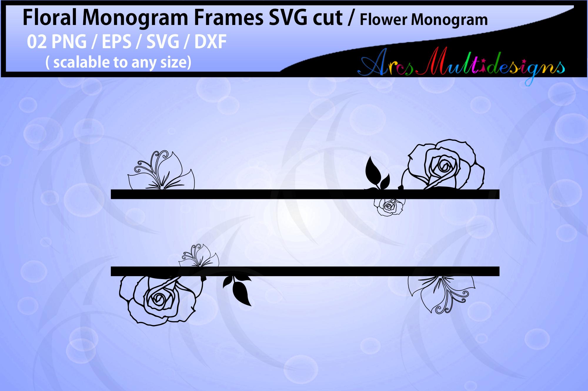 Floral Frames svg / Floral monogram frames / circle frames example image 3