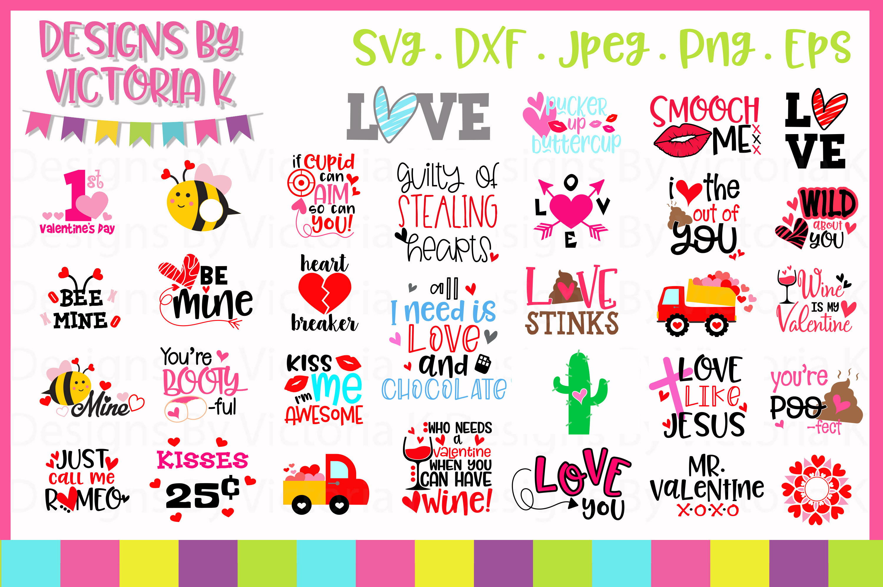 Valentine's Day SVG Cut Files example image 2