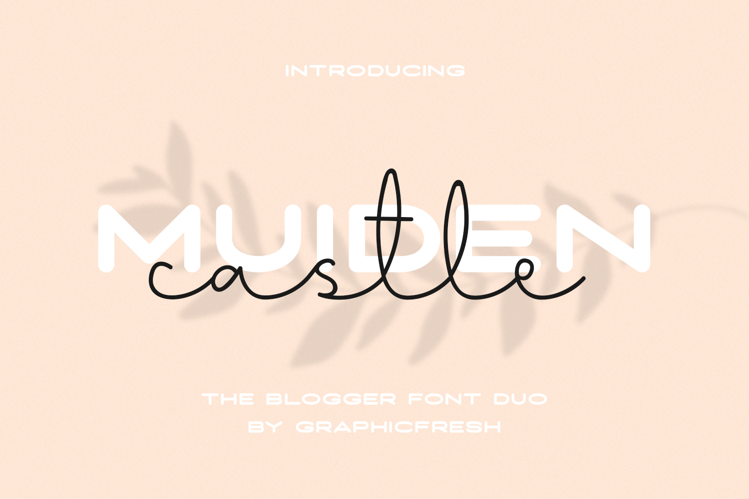 Muiden Castle - The Blogger Font Duo example image 1