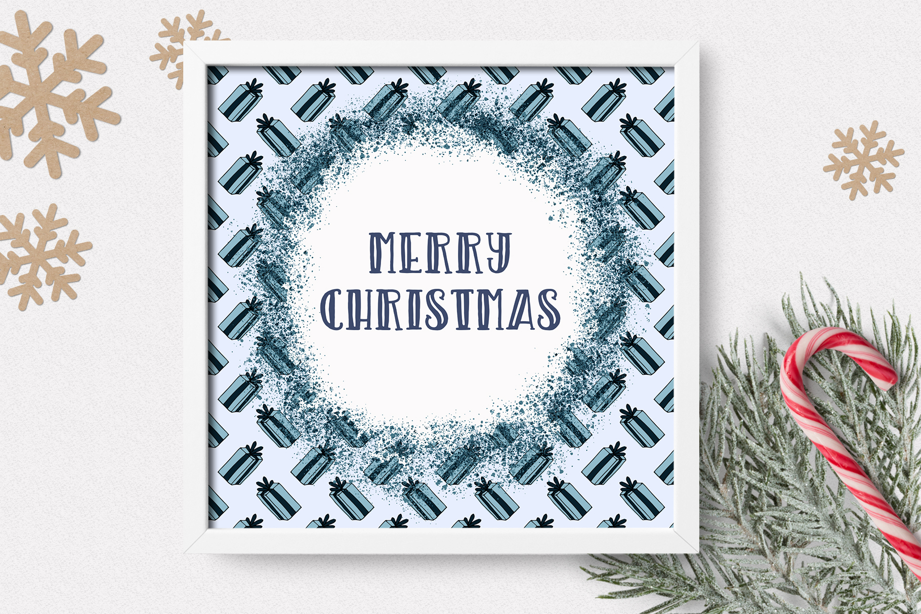 Christmas Clipart and Pattern Bundle example image 14