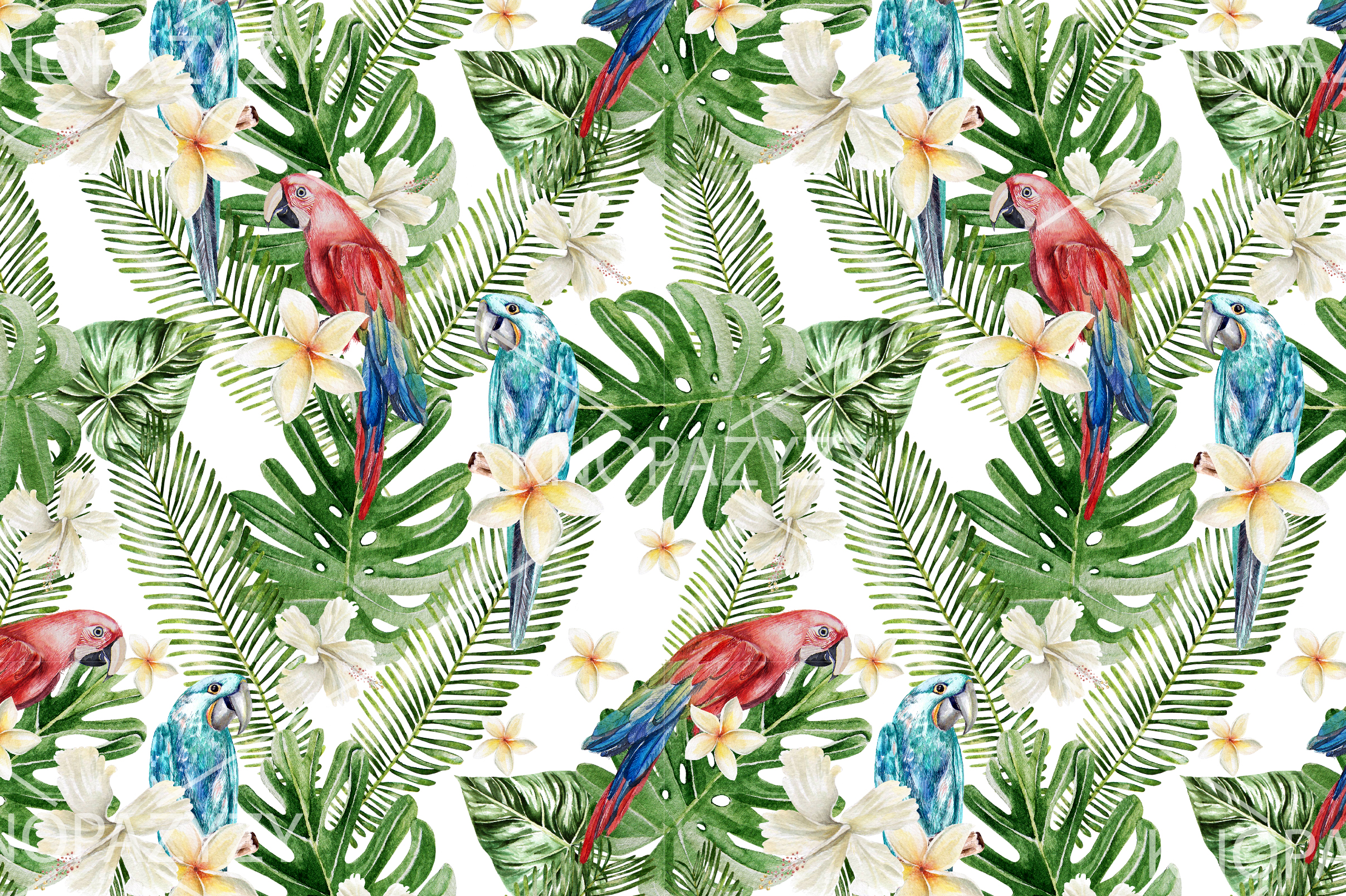 16 Hand Drawn Watercolor Pattern example image 15