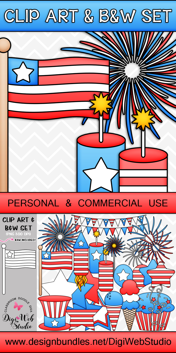 Clip Art / Illustrations - 4th of July Stuff example image 2