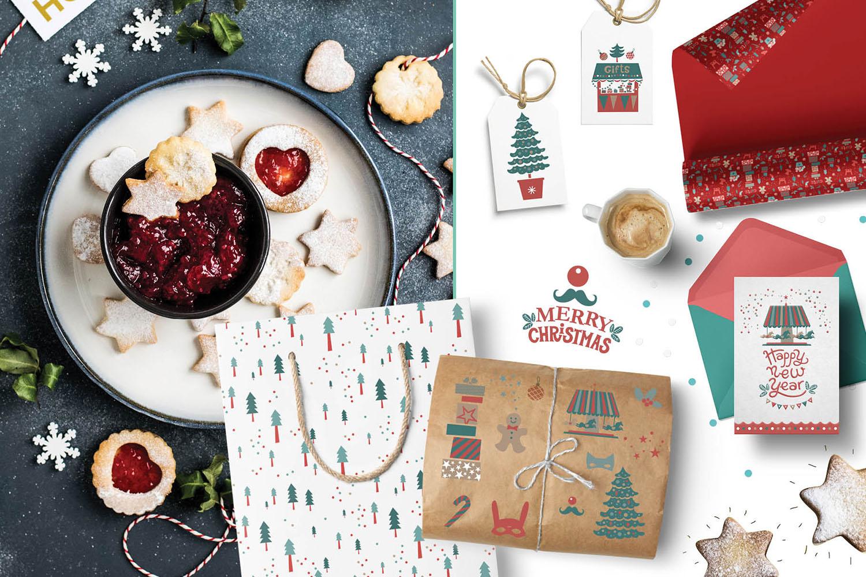 Christmas market. Graphic set example image 8
