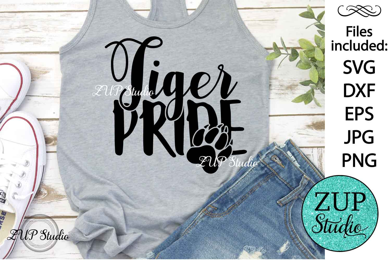Tiger Pride text word art svg design 459 example image 1