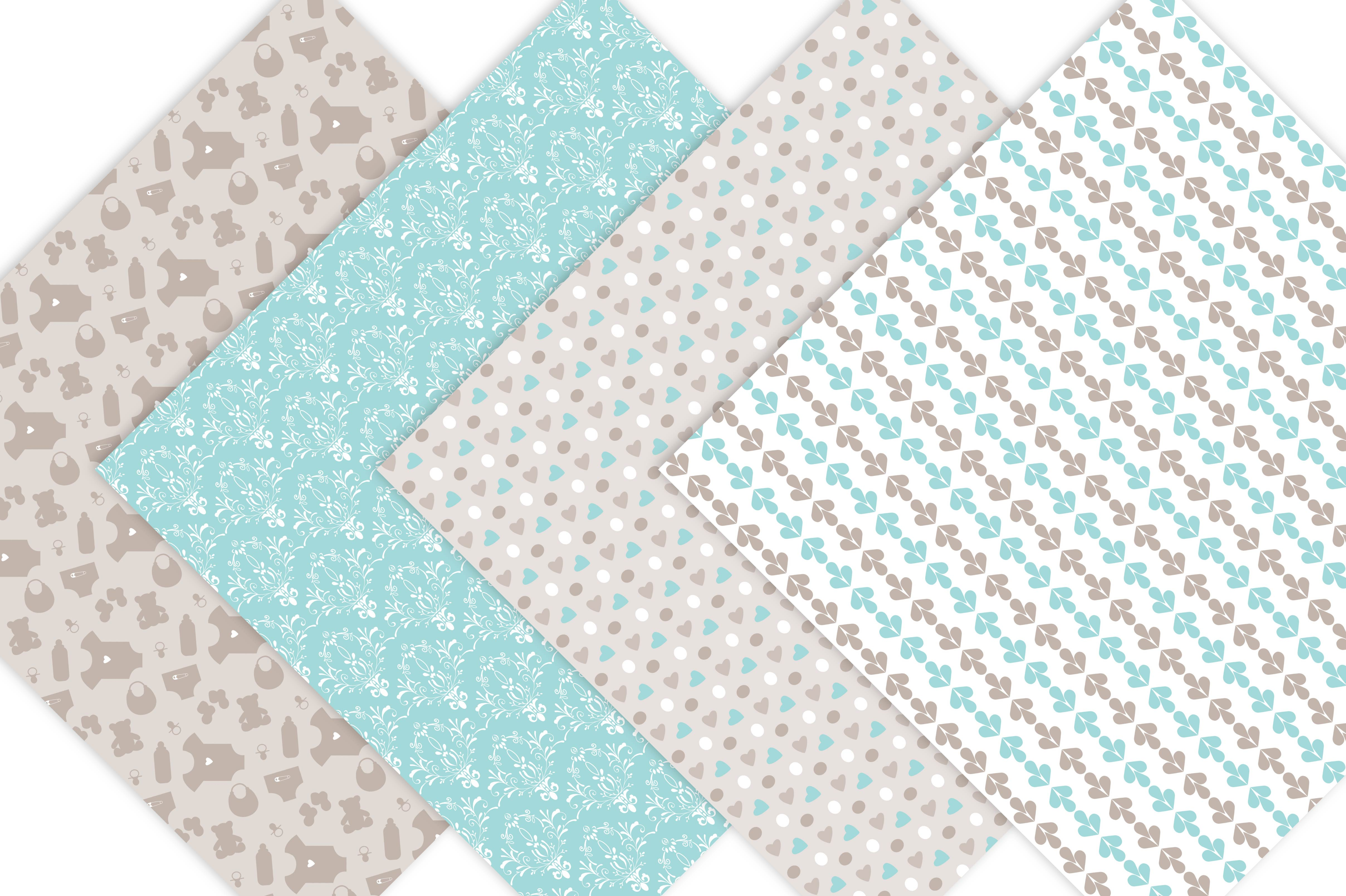 Baby Boy Digital Paper Patterns example image 2