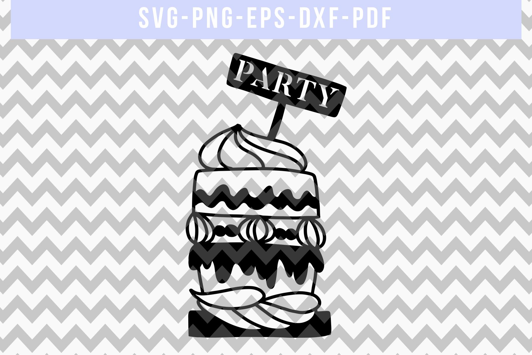 Cake Papercut Template, Birthday Party Invitation SVG, PDF example image 4