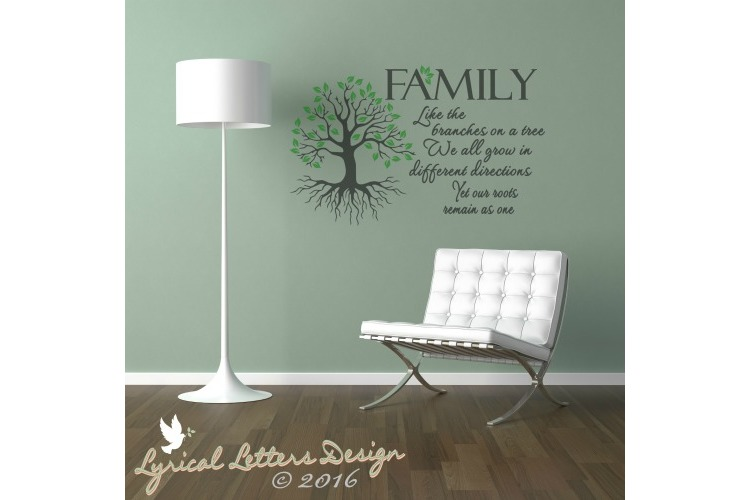 Family Like the Branches on a Tree SVG Cut File LL039B example image 2