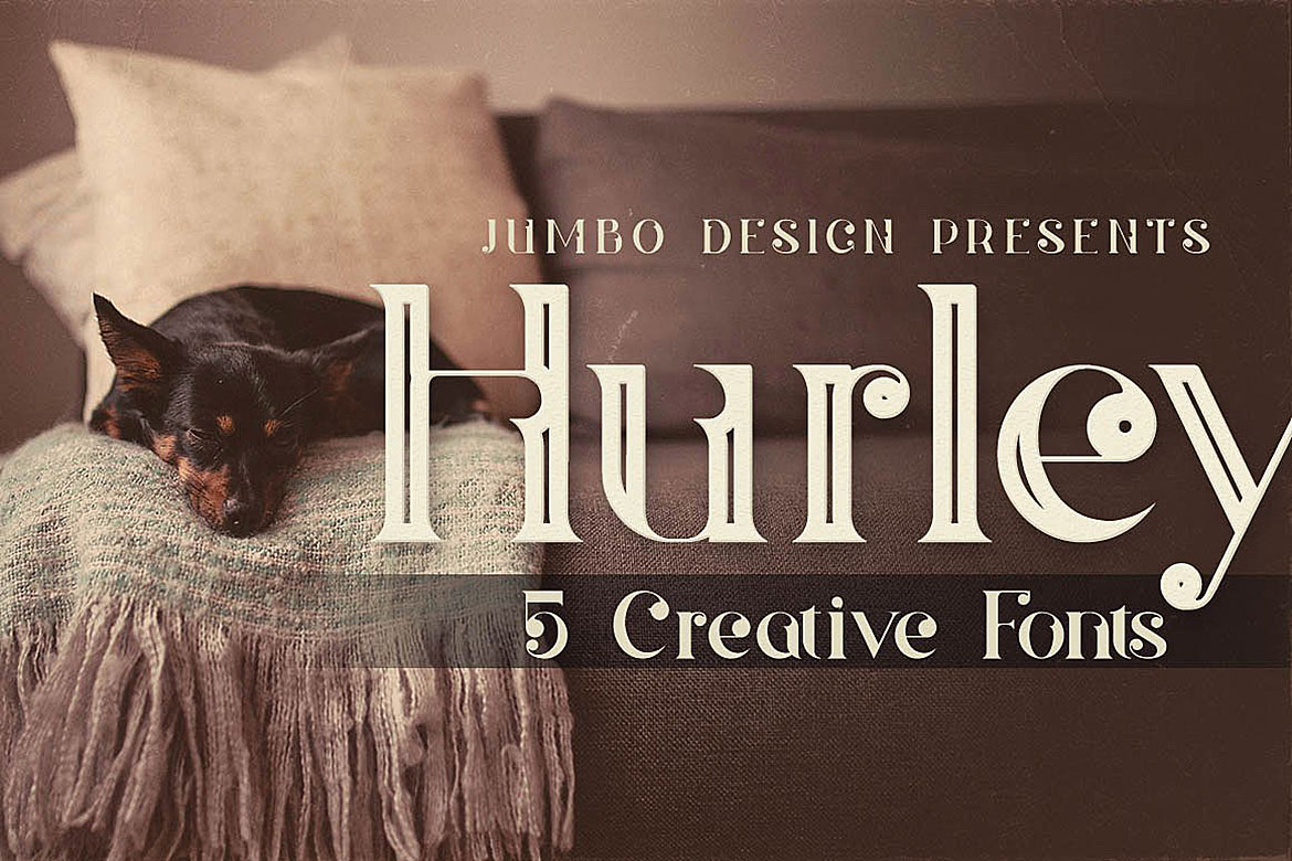 Hurley - Vintage Style Font example image 1