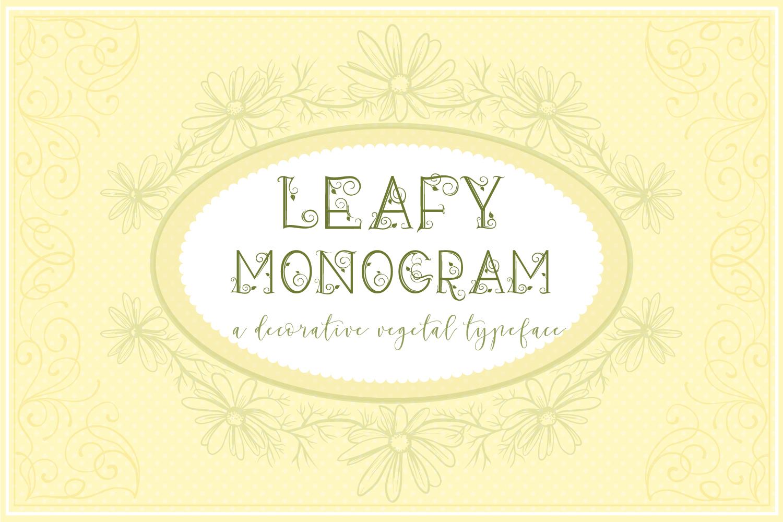 Leafy Monogram Font & Alphabet example image 4