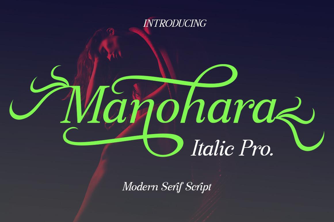 Manohara Italic Pro example image 1