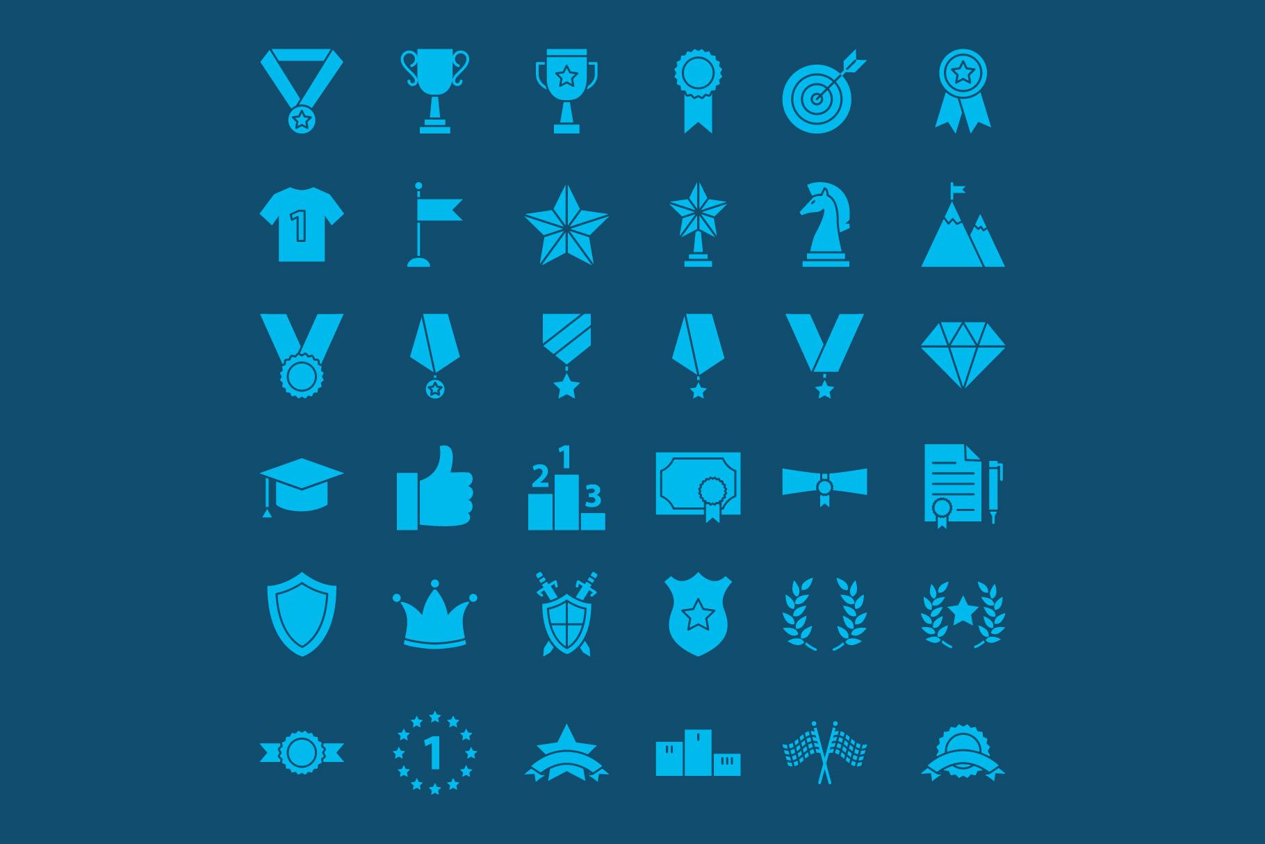 Award Line Art Icons example image 2