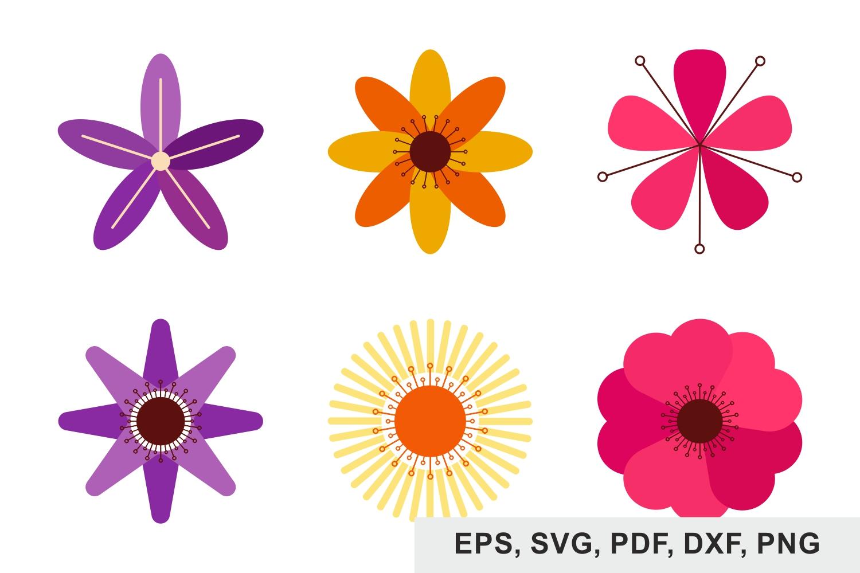 Flowers bundles, Florals, Flowers Bouquets, Svg files example image 1