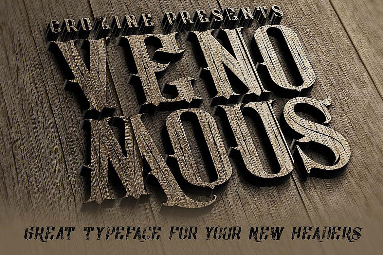 Venomous Typeface example image 5