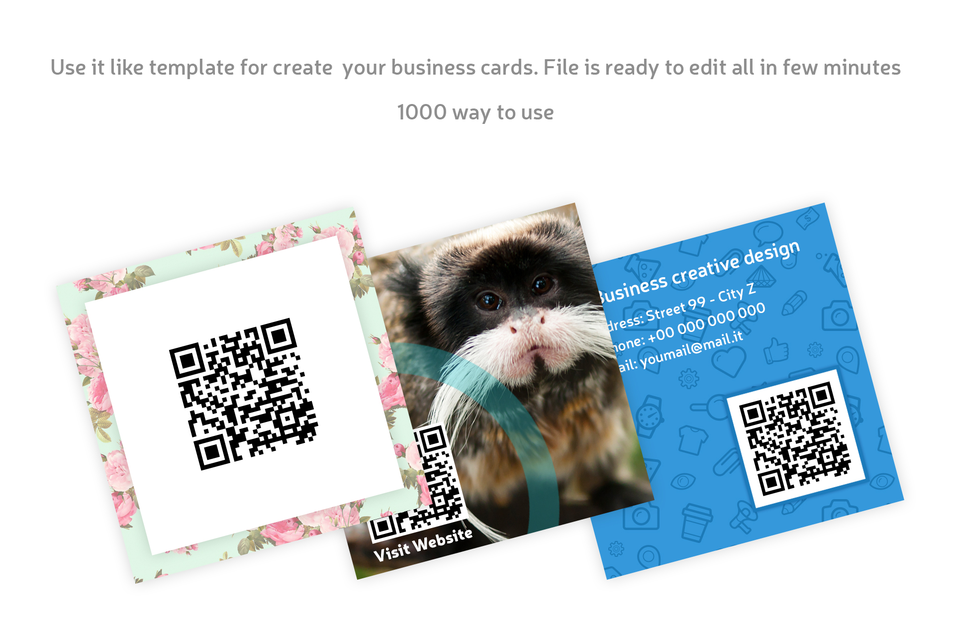 Square business card qr code by manudes design bundles square business card qr code example image 3 reheart Image collections