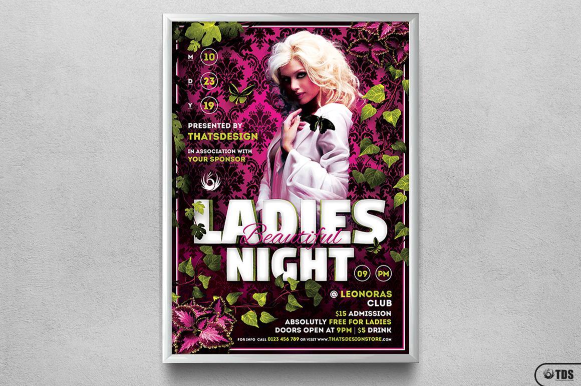Beautiful Ladies Night Flyer Template example image 6
