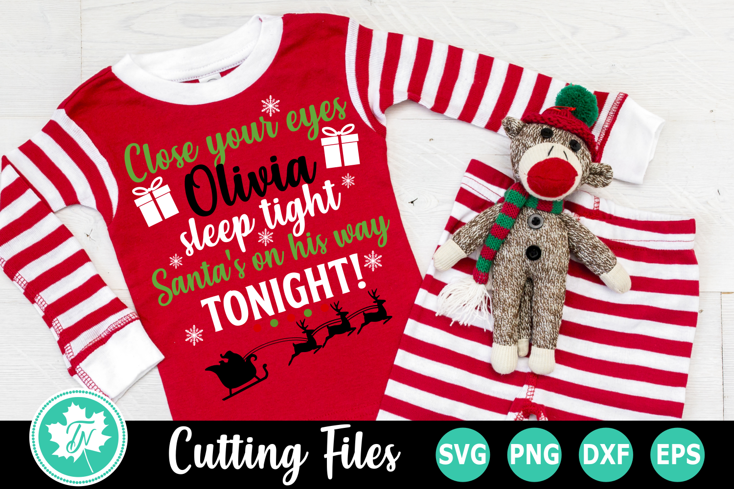 Close Your Eyes Sleep Tight - A Christmas SVG File example image 1