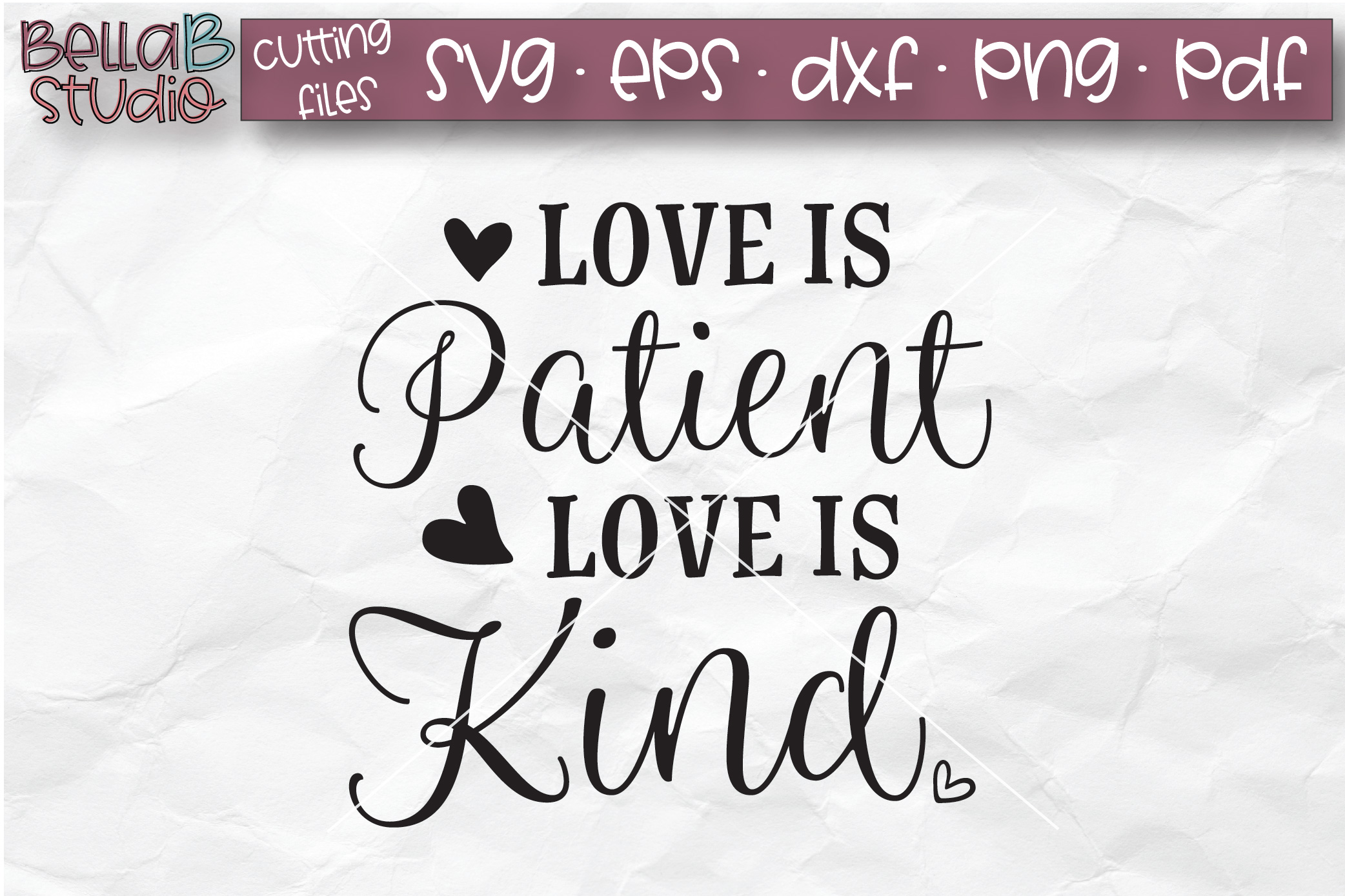 Love Is Patient Love Is Kind SVG, Christian SVG, Bible Verse example image 2