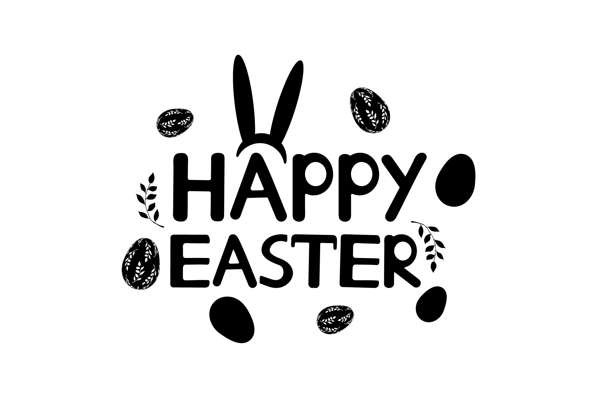 Happy Easter- EPS, Ai, SVG, JPG, PNG example image 1