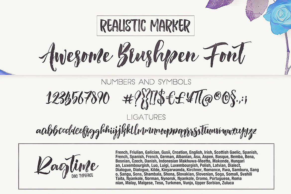 Ragtime - Brush Font Duo example image 5