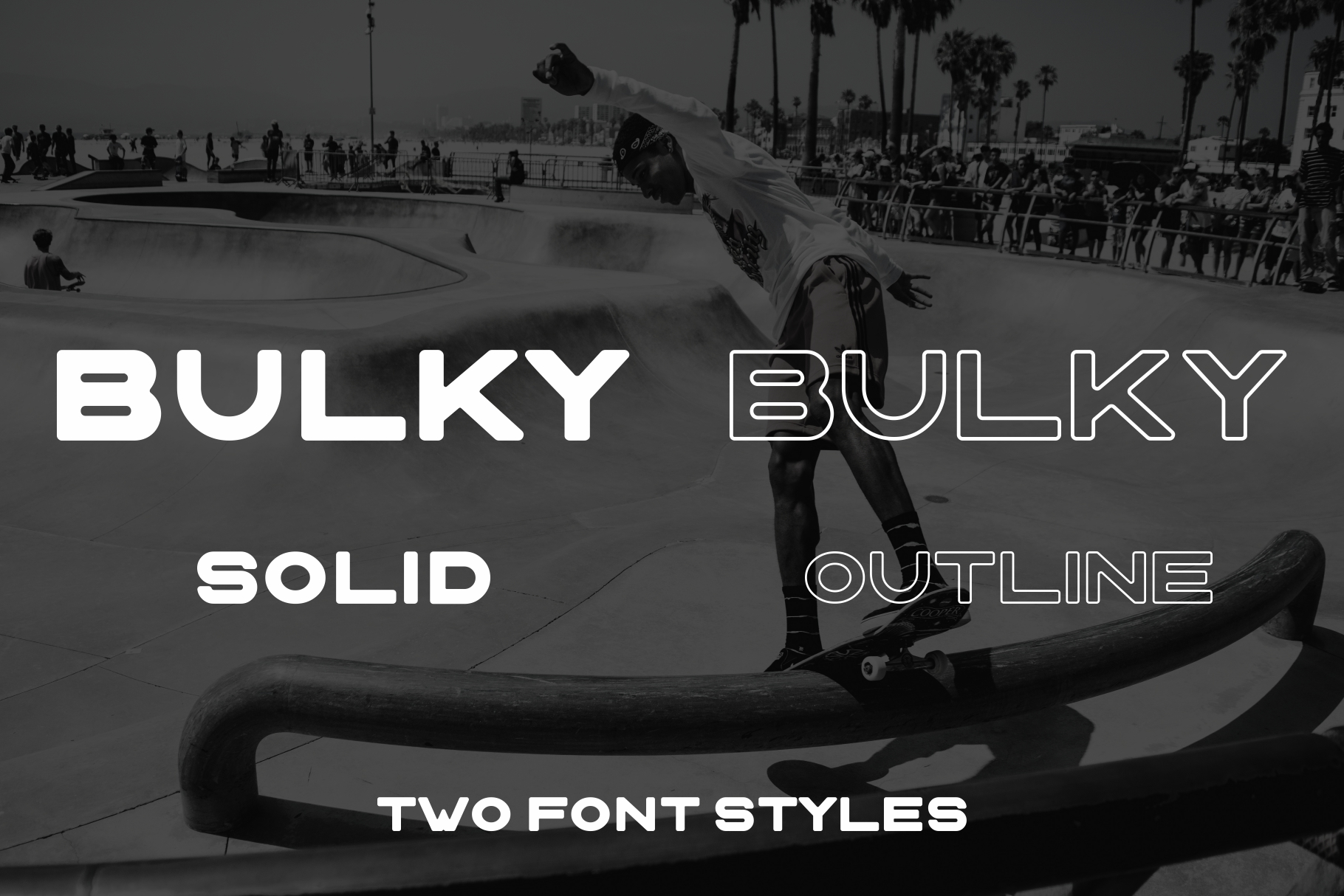 BULKY. Display typeface, 2 styles. example image 3