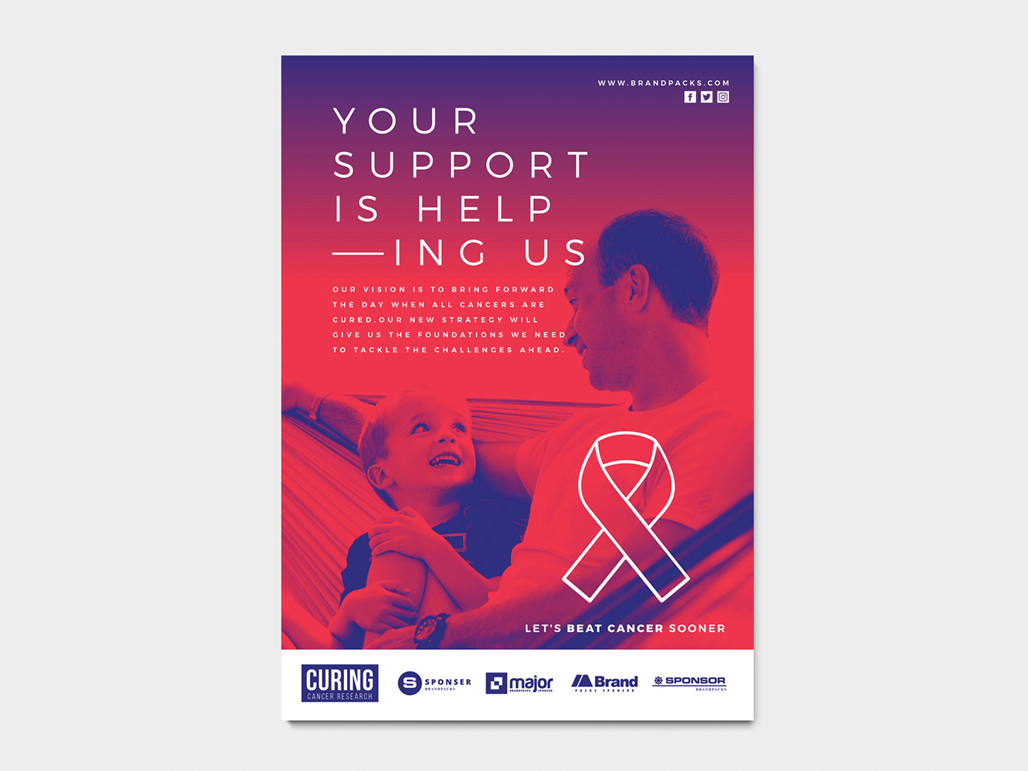 A4 Cancer Charity Poster Template example image 5