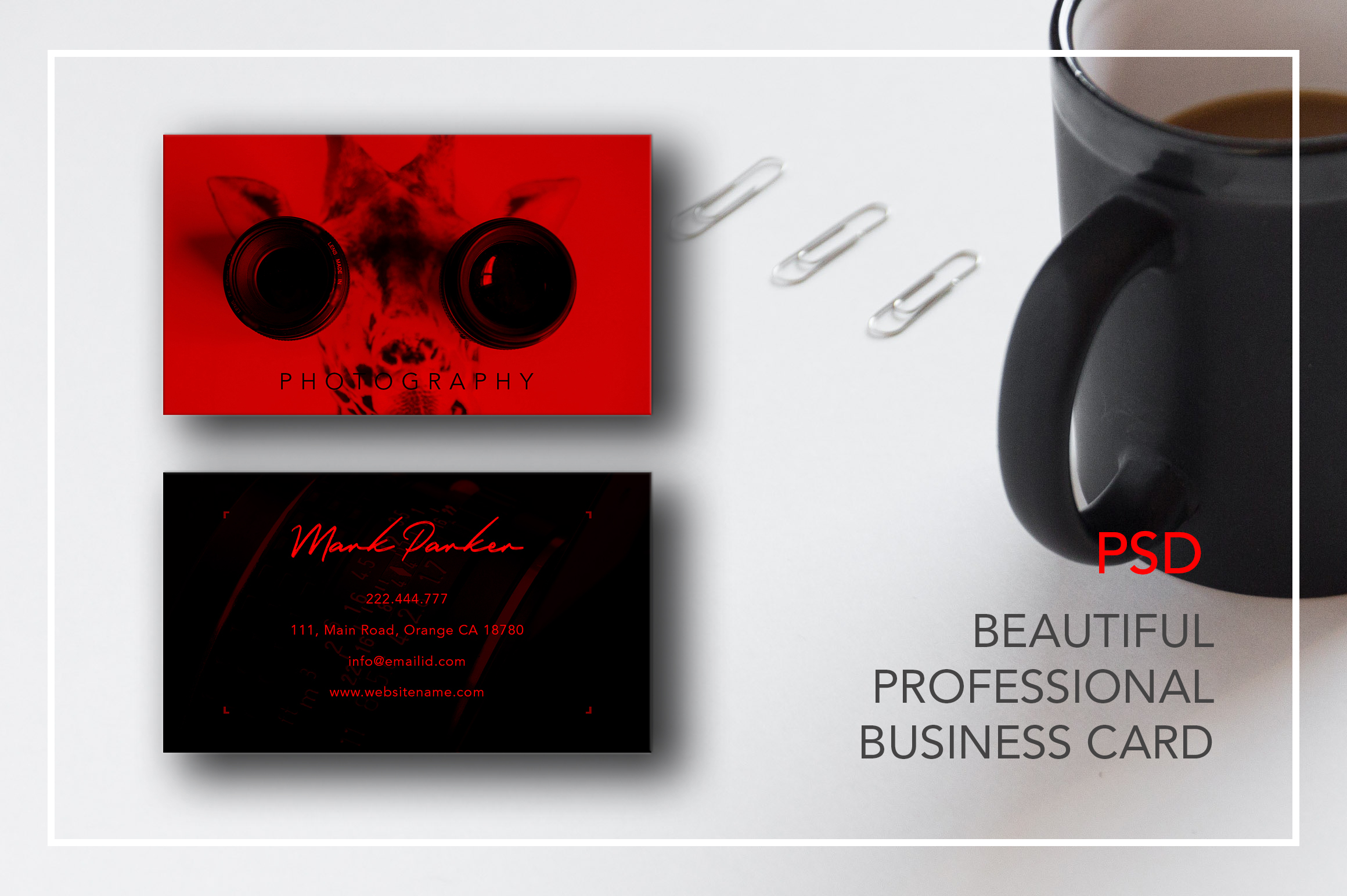 Professional Photography new business card example image 3