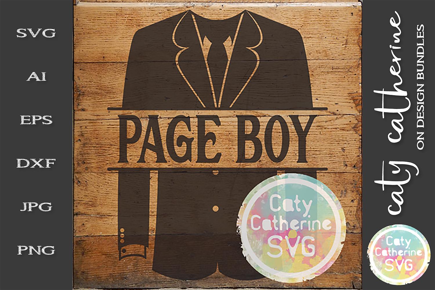 Wedding Party Male Roles Tuxedo Pageboy SVG example image 1