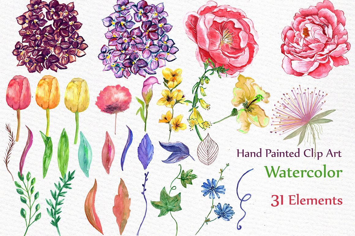 Watercolor wedding flowers example image 2