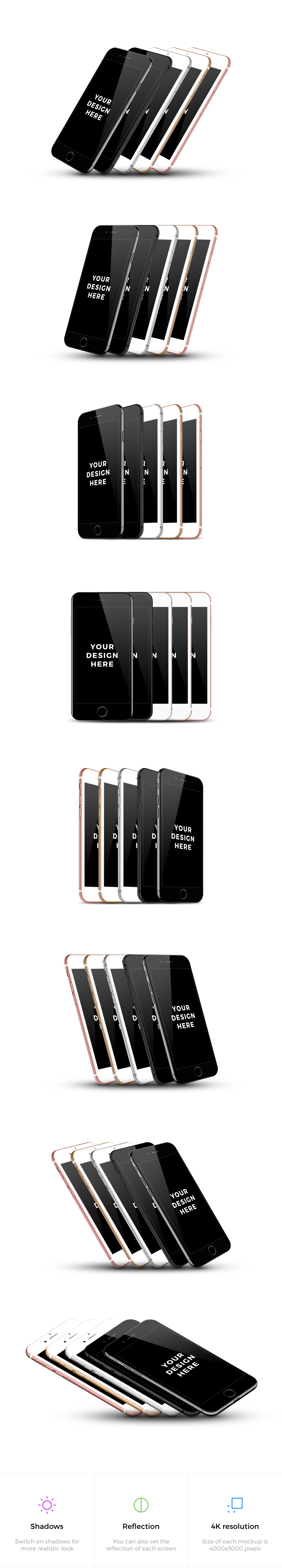 40x iPhone 7 Mockups example image 2
