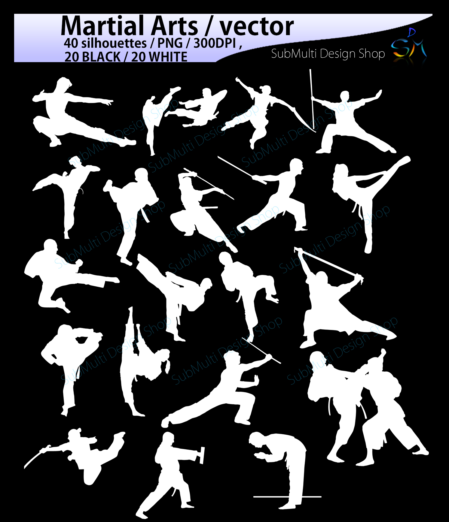 Martial arts SVG / High Quality /Martial art silhouette / Martial arts cliparts / karate silhouette/ silhouette /300 DPI / EPS / PNg/ DXf example image 3