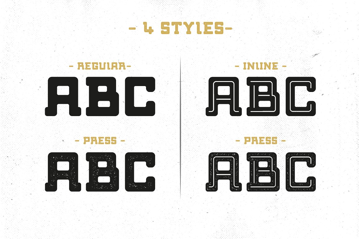 Bebop Slab Serif Font Family example image 2