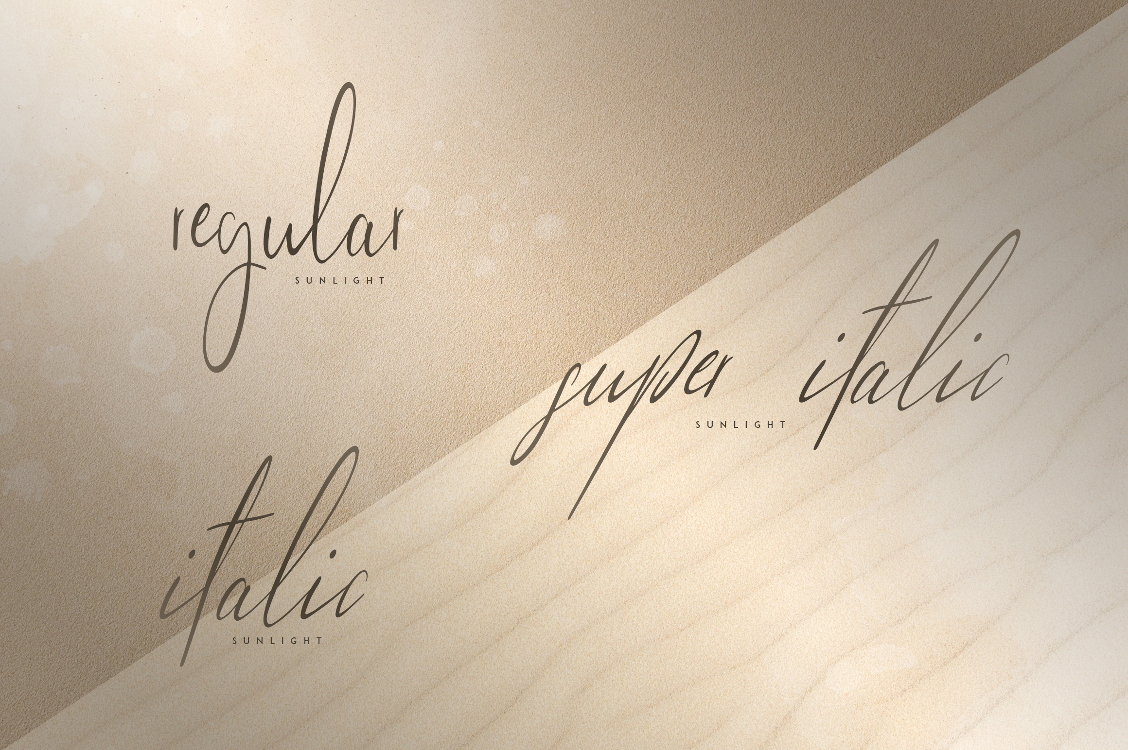 Sunlight - Signature typeface example image 2