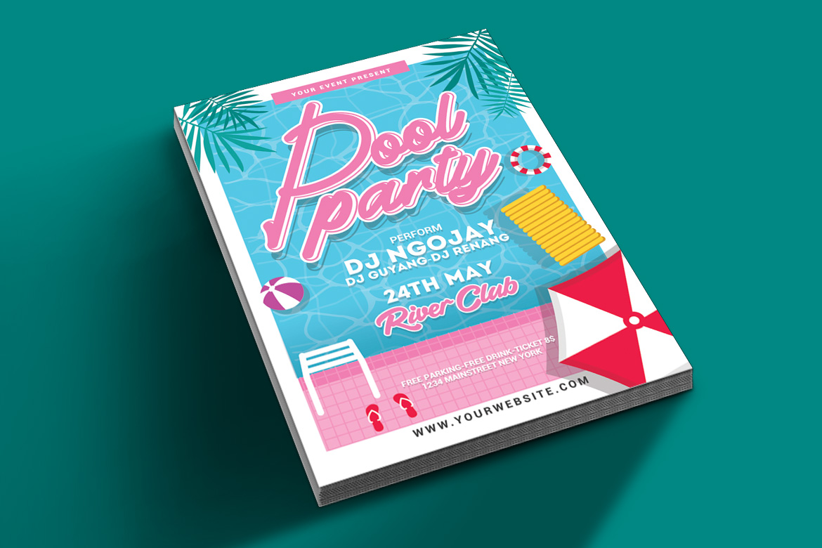 Pool Party Flyer example image 2