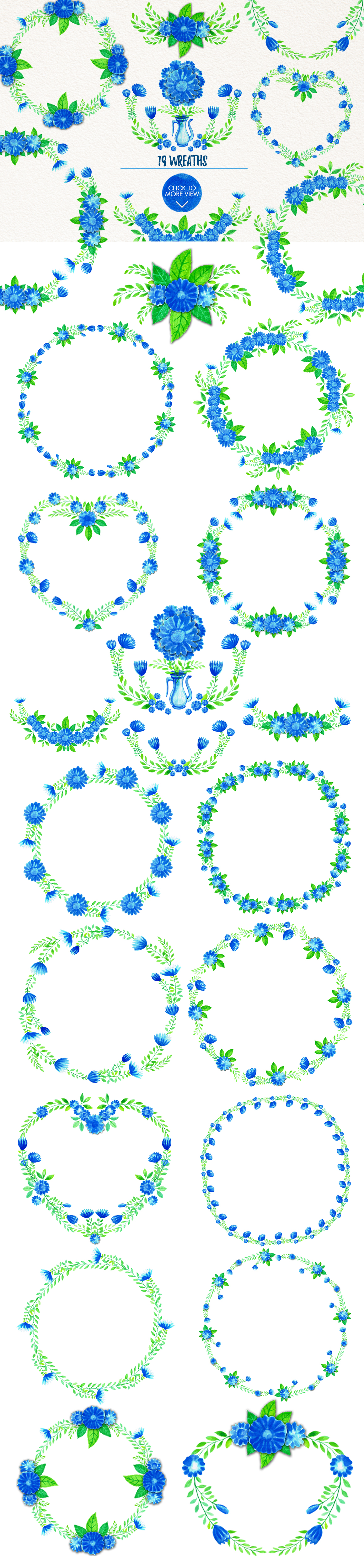 Simple Blue Floral example image 11