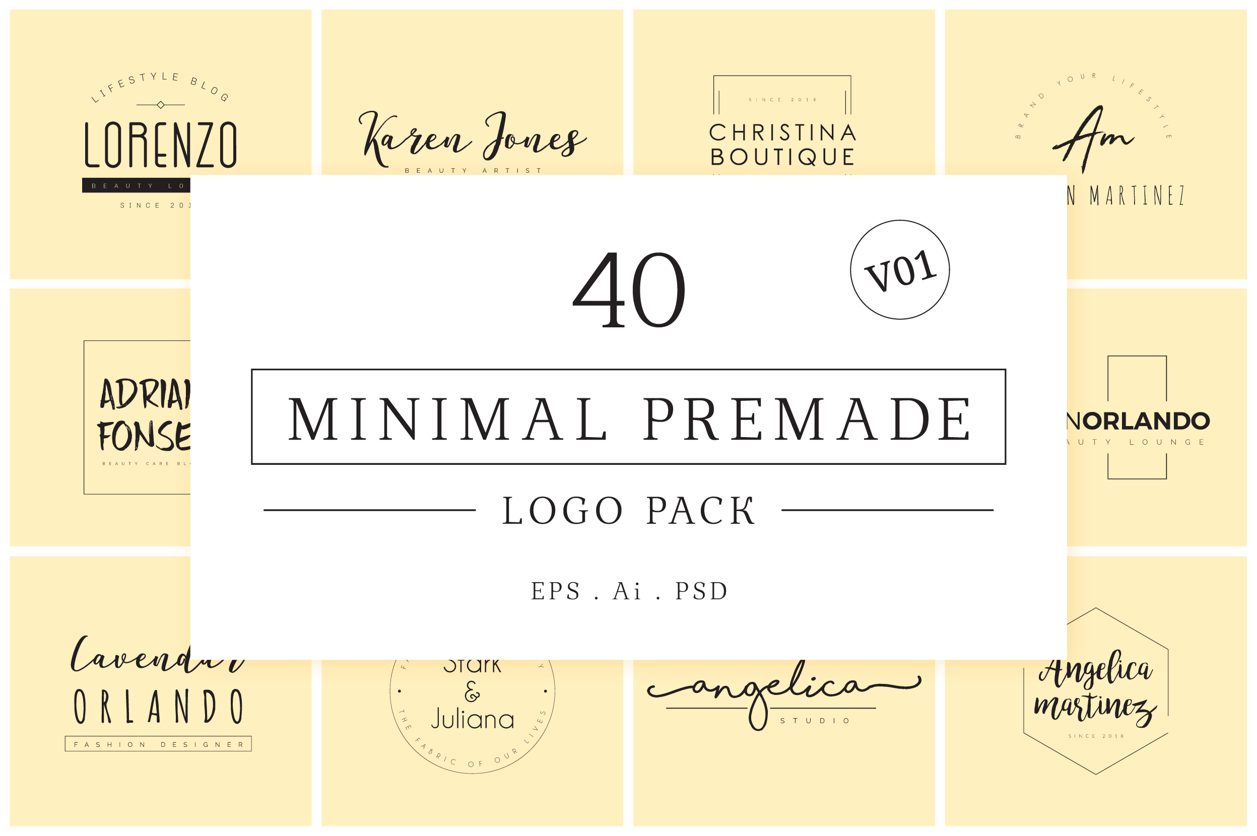 640 Premade Logos Mega Bundle example image 15
