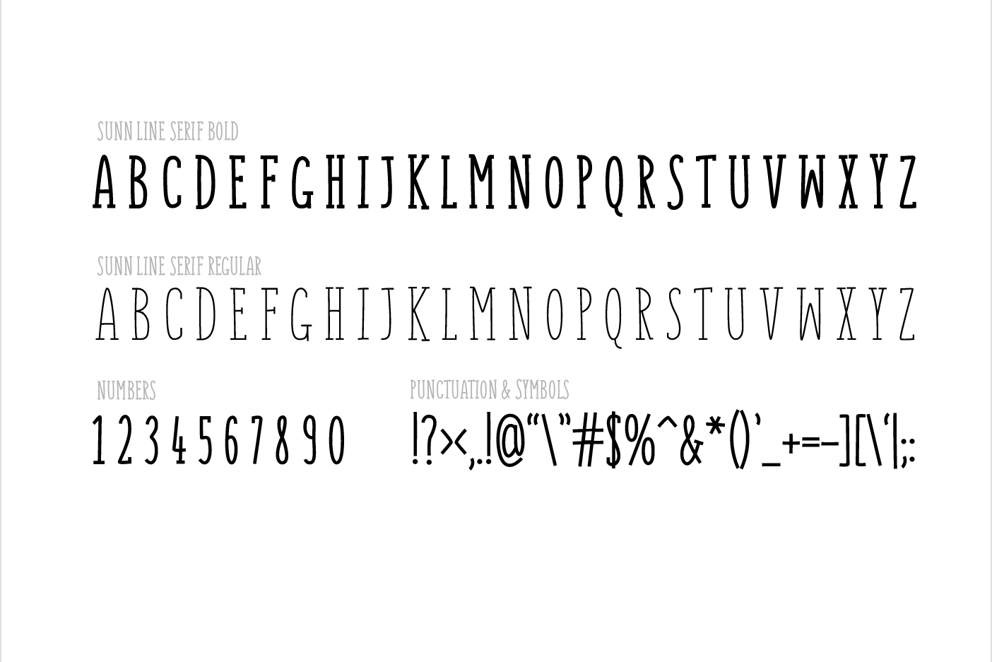 SUNN Serif Line Caps Only Font example image 2