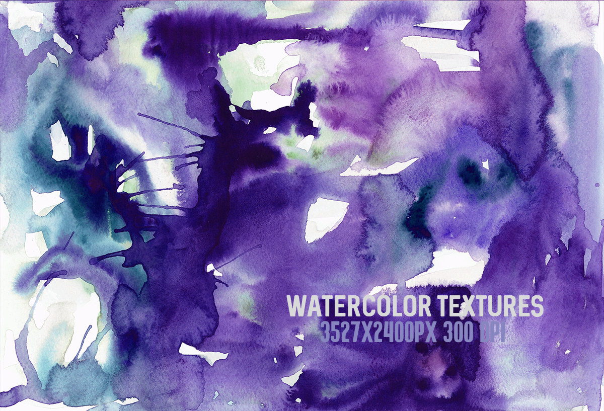 8 Purple watercolor textures, HQ 3527x2400px 300 DPI JPG example image 3