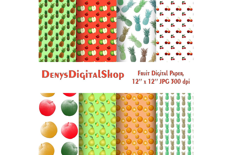 Fruit Digital Paper, Printable Paper, Digital Paper, SALE example image 2